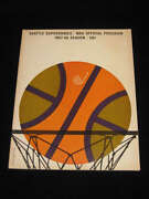 Seattle Supersonics First 1st Home Game Program - 1967