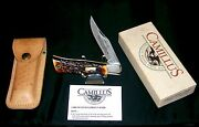 Camillus 7 Cam Lok Knife And Sheath 4-1/2 Circa-1970and039s W/packaging And Papers Rare