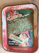 Rare Antique Vintage Wrigleys Gum Advertising Tray