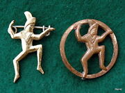 Girl Scout 1st 1921-37 And 2nd 1937-39 Brownie Membership Pins - Rare Find