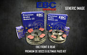 New Ebc Front And Rear Brake Discs And Pads Kit Oe Quality Replace - Pd40k1054