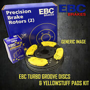 New Ebc 280mm Front Turbo Groove Gd Discs And Yellowstuff Pads Kit Pd13kf509