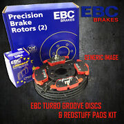 New Ebc 278mm Front Turbo Groove Gd Discs And Redstuff Pads Kit Kit7985