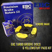 New Ebc 282mm Front Turbo Groove Gd Discs And Yellowstuff Pads Kit Pd13kf364