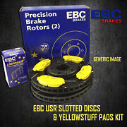 New Ebc 232mm Front Usr Slotted Brake Discs And Yellowstuff Pads Kit Pd08kf126