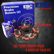 New Ebc 286mm Rear Turbo Groove Gd Discs And Redstuff Pads Kit Pd12kr187