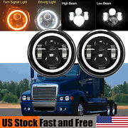 For Freightliner Century Class 7inch Led Headlight Drl Turning Signal Lights 2x