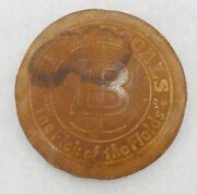 Vintage Early 1900s Leather Paperweight Advertising Binkley Coal Co.