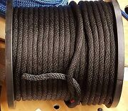 Anchor Rope Dock Line 1/4 X 450and039 Braided 100 Nylon Black Made In Usa