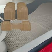 Car Floor Mats For Rubber All Weather Semi Custom Fit Heavy Duty Trimmable 3pcs