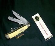 Case Xx 3254 Knife Yellow Composite Trapper 1984 New Grind 6 Dot W/packaging