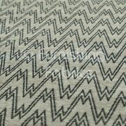Designer Modern Chevron Striped Pattern In Brown Colour Woven Upholstery Fabric