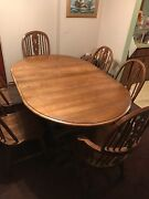 Dining Table Oval Soild Oak  6chairs China/silver Cabinet Carolinaand039s Best