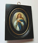 Painted Portrait Plaque Of Woman In Foster Bros. Boston Frame