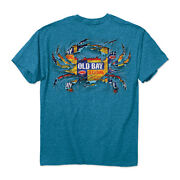 Old Bay Ripped Crab Sapphire T-shirt- Maryland My Maryland - New