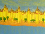 The Golden Temple Of Knowledge Fantasy Painting By - Jamie Morris-the Bee- Coa