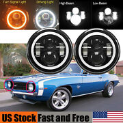 Led Headlight For Chevrolet Camaro 7and039and039 Inch Round Projector Drl Lights H4 H13 2x