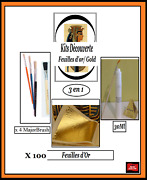Discovery Kits Gold Leaf Paper Sheets 100 Feuilles Dand039or Complet