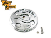 Wyatt Gatling Flame Air Cleaner Cover Insert For Harley Dyna Softail Touring