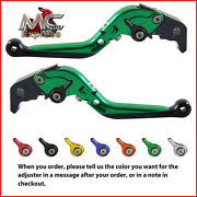Folding Extendable Adjustable Levers Yamaha R6s Canada Version 2006 Green