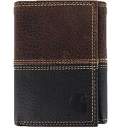 Wallet Menand039s Rugged Trifold Wallet Black/brown Wallets