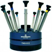 Bergeon 7965-s12 Set Of 12 Screwdrivers On Special Profile Stand - Hs7965-s12