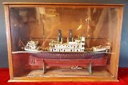 Model Of Sailboat Aragon. Wood. Spain First Third 20th Century.