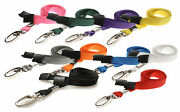 Lanyard Neck Strap Strong Metal Clip For Id Card Pass Holder Pick Your Colour