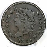 1814 S-294 Pcgs Vf30 Crosslet 4 Classic Head Large Cent Coin 1c