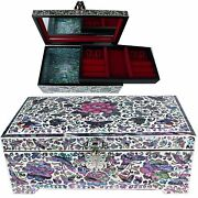 Antigue Jewelry Box Mother Of Pearl Jewelry Organizer Women Gift Items 5025bp