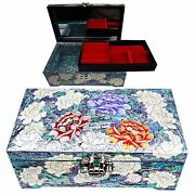 Antigue Jewelry Box Mother Of Pearl Jewelry Organizer Women Gift Items 5026p