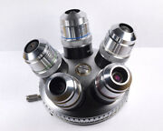 Zeiss Epiplan Hd 4, 8, 16, 40 And 80x Metallurgical Microscope Objective Set