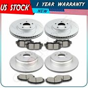 Front And Rear Brake Rotors And Ceramic Pads For 2011 2012 2013 2014 Honda Odyssey