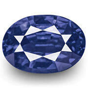 Grs Certified Sri Lanka Blue Sapphire 1.26 Cts Natural Untreated Deep Blue Oval