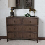 42 W Sophia Accent Chest 4 Drawer Medium Brown Solid Wood Hand Crafted Nice