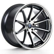 """20"""" Rohana Rc10 Machined Black Concave Wheels For Mercedes W221 W222 S550 S560"""