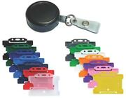 Heavy Duty Retractable Card Reel Black And Id Card Pass Badge Holder Choose Colour