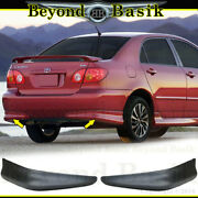 For 2003-2008 Toyota Corolla 2pc Factory S Style Body Kit Rear Bumpers Chins Pp