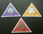 50th Anniv Of Gibraltar Girl Guides 1975 Scout Scouting Stamp Mnh Odd Shape