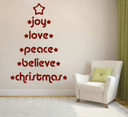 Quote Tree Wall Decals Christmas Window Stickers Christmas Decorations H33