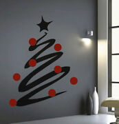 Christmas Tree Line Decals Christmas Window Stickers Christmas Decorations H36