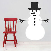 Diy Snowman Wall Decals Christmas Window Stickers Christmas Decorations H41