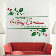 Merry Christmas Quote Decal Christmas Window Stickers Christmas Decorations H43