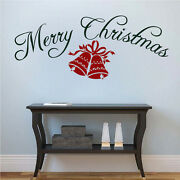 Merry Christmas Bell Decal Christmas Window Stickers Christmas Decorations H44