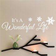 Itand039s A Wonderful Life Decal Christmas Window Stickers Christmas Decorations H55