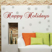 Happy Holidays Wall Decal Christmas Window Stickers Christmas Decorations H57