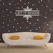 Let It Snow Wall Decal Christmas Window Stickers Christmas Decorations H58