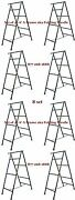 Set Of 8 - 6and039 A Frame Folding Trestle For Masonry Contractor Work Cbm Scaffold