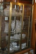 Antique Rare French Bronze Framed And Glass Jewelry Showcase 19th C.