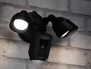 New Ring Floodlight Outdoor Wi-fi Motion Activated Security Cam Camera - Black